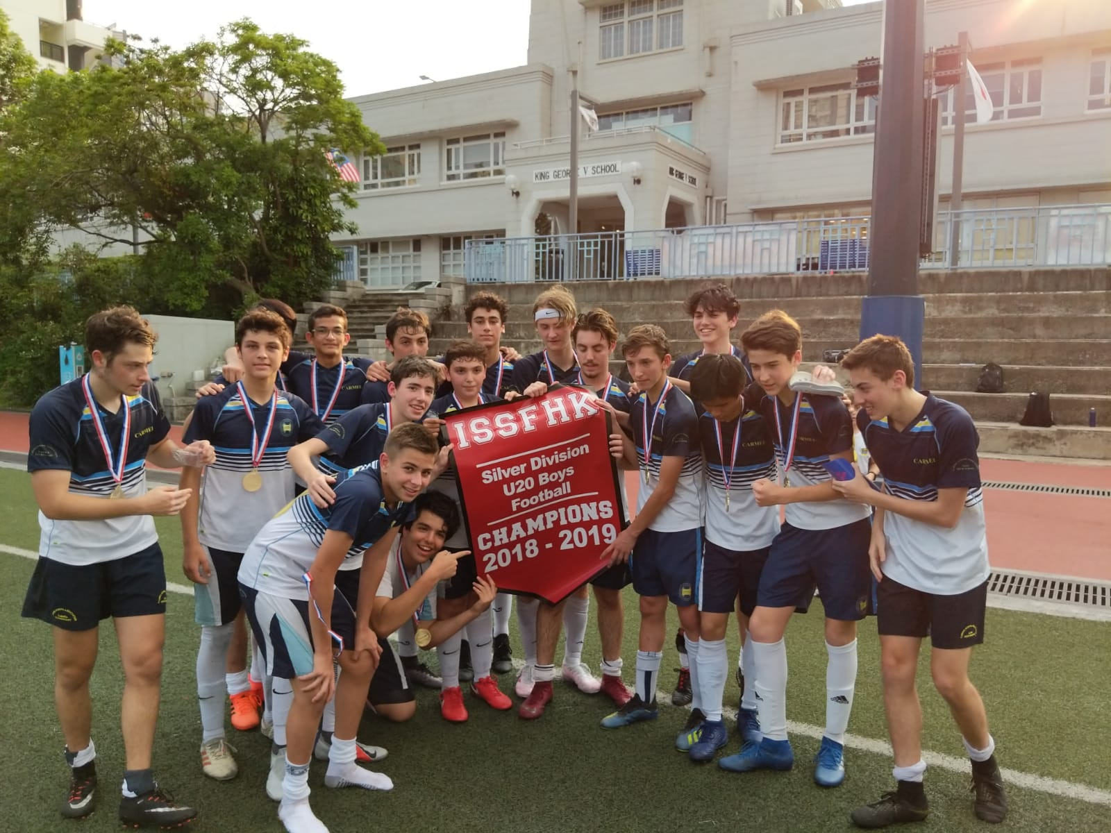 U20 Football team win ISSFHK Division Championship