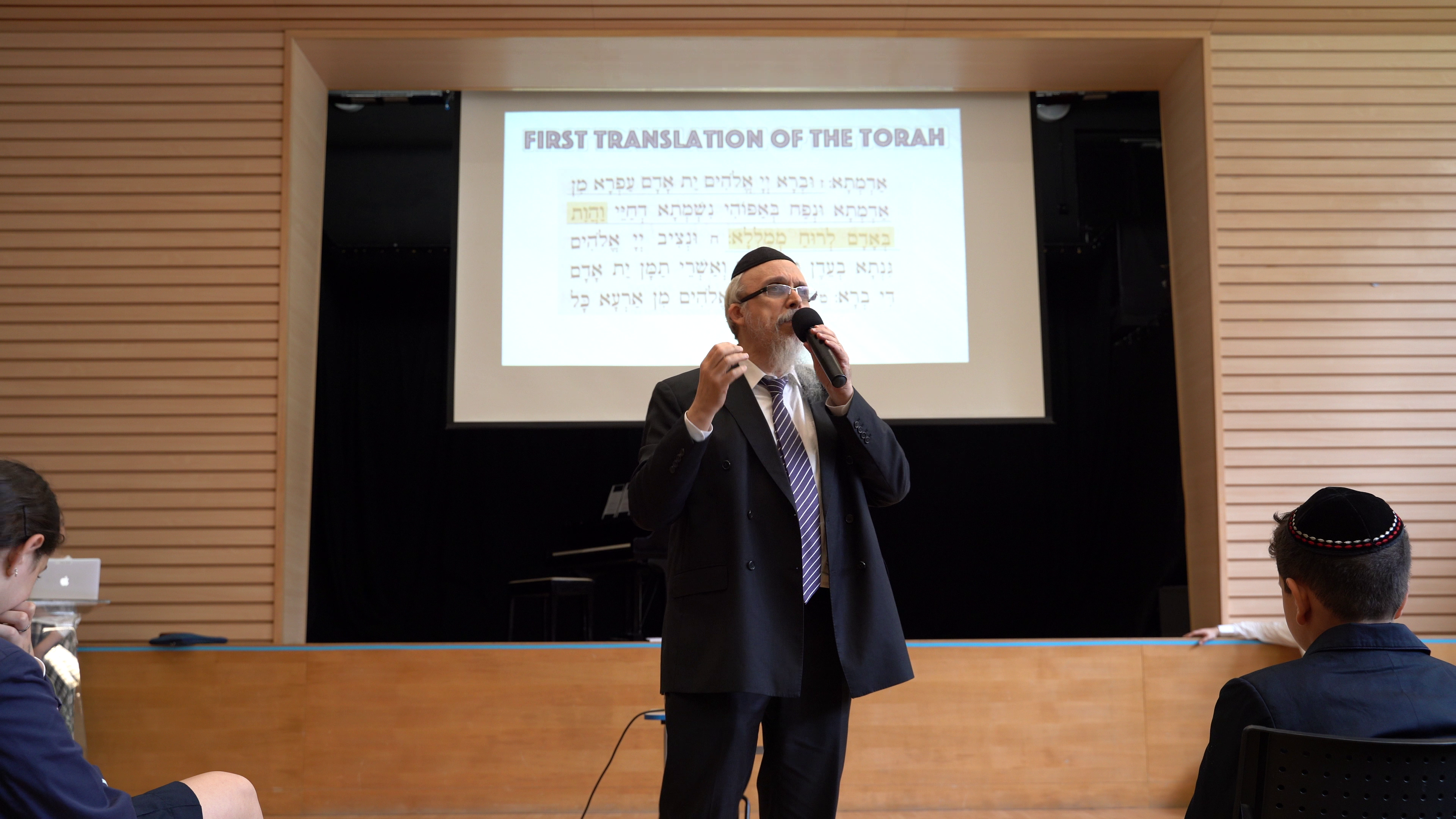 Rabbi Avtzon Visits Elsa High School in Lead up to Rosh Hashanah