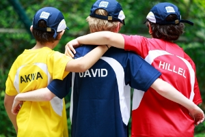 Students wearing house colours.